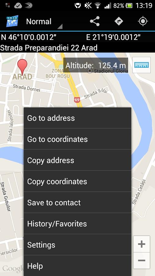 Map Coordinates- screenshot