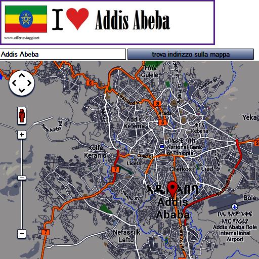 Addis Abeba map