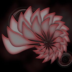 you by Dietmar Kuhn - Illustration Abstract & Patterns ( abstract, moody, pink, symmetry, soft )