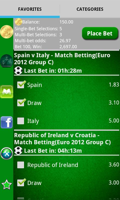 Pocket Sportsbook - Bookie App- screenshot