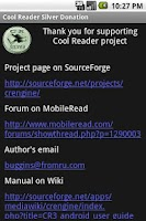 Screenshot of Cool Reader Silver Donation