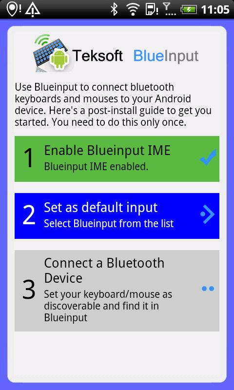 BlueInput Demo - screenshot