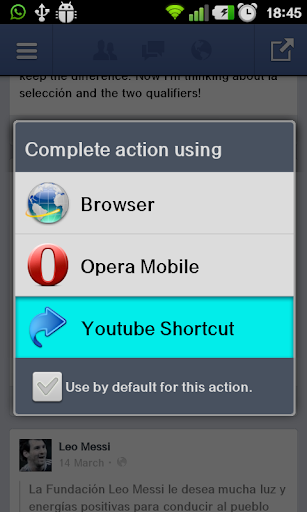 Youtube Shortcut