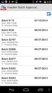 Voucher Batch Appr for JDE E1 - náhled
