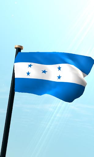 洪都拉斯旗3D免費動態桌布