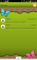 Screenshot of GO SMS - Retro Butterfly Dot