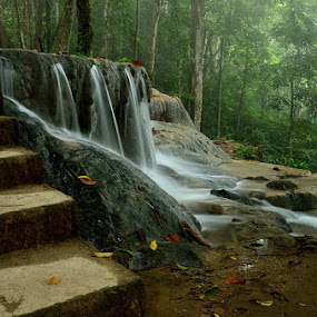 Matabuntu Waterfall by Hitler Tombaan - Landscapes Waterscapes ( sorowako, matabuntu, heatlarx, forest, nature, waterfall, indonesia, larxart, south sulawesi )