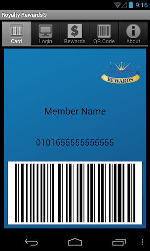 Royalty Rewards Member App