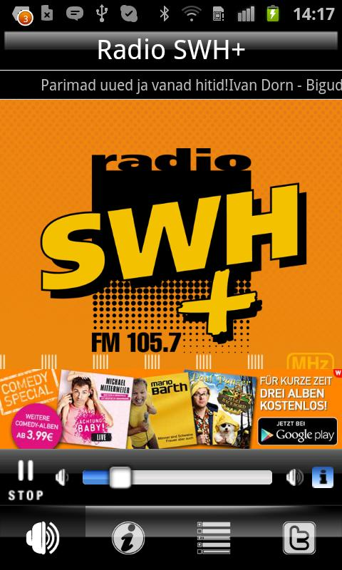Radio SWH Plus 105.7 FM - screenshot