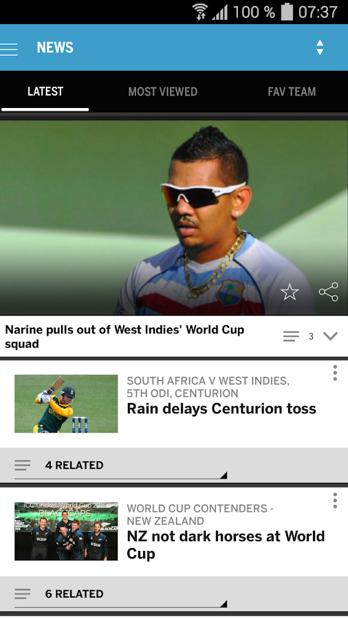 The ESPNcricinfo Cricket App- screenshot