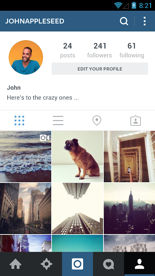 Instagram updated with new Interface
