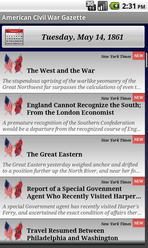 1863 Jan Am Civil War Gazette - screenshot