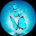 Cyan Butterfly Live Wallpaper icon