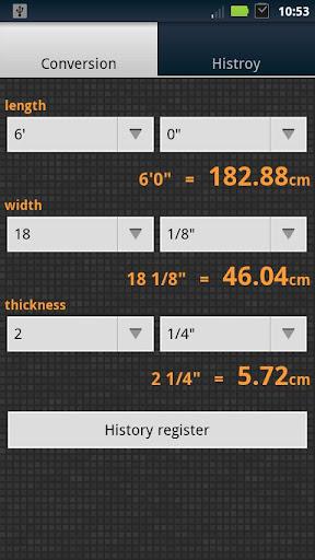 Surfbord衝浪尺寸轉換器[inch C