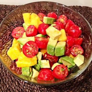 Mango Avocado Tomato Salad