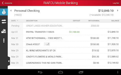 RIAFCU Mobile Banking - screenshot thumbnail