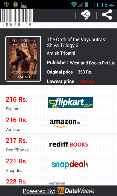 LowPrice lowest book price - screenshot