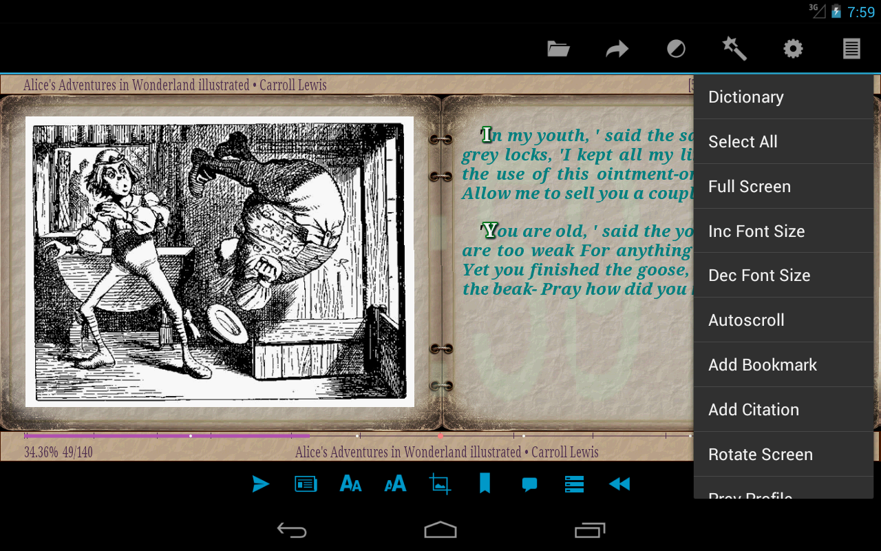 AlReader -any text book reader - screenshot