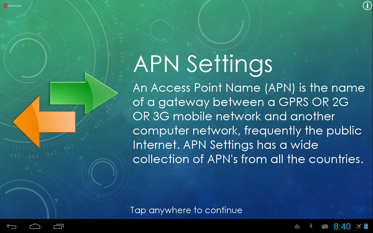 APN settings for all networks