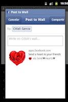 Screenshot of Send a heart