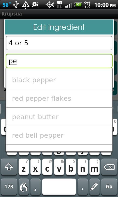 RecipeBox (Old)- screenshot
