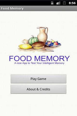 Food Memory Game - screenshot