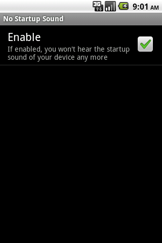 No Startup Sound- screenshot