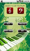 Screenshot of Learn Musical Notes Flash Card