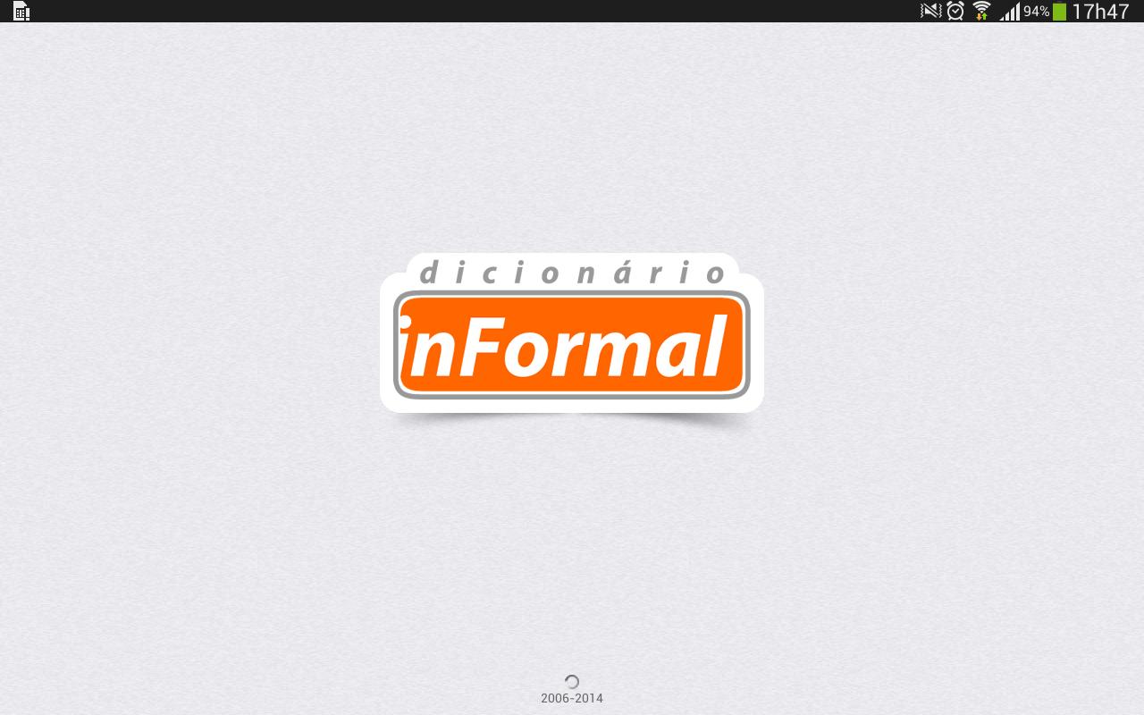 Dicionário inFormal - screenshot