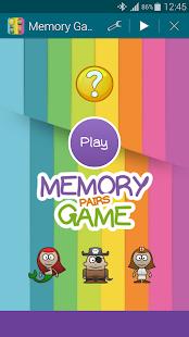 Characters Memory Game Pairs