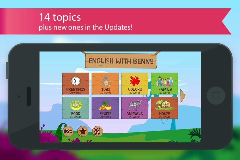 English for kids with Benny- screenshot