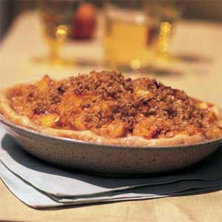 Brown Sugar-Peach Pie with Coconut Streusel.