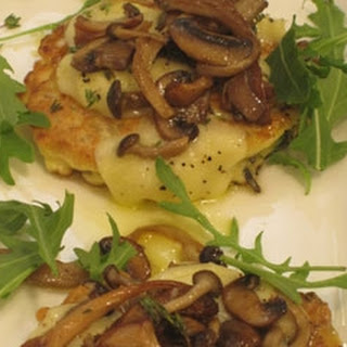 Savoury Pancakes With Wild Mushrooms And Rice.