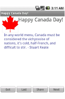 Screenshot of Happy Canada Day!