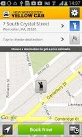 Screenshot of Worcester Yellow Cab