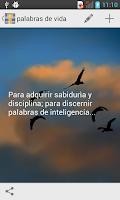 Screenshot of Palabras de Vida
