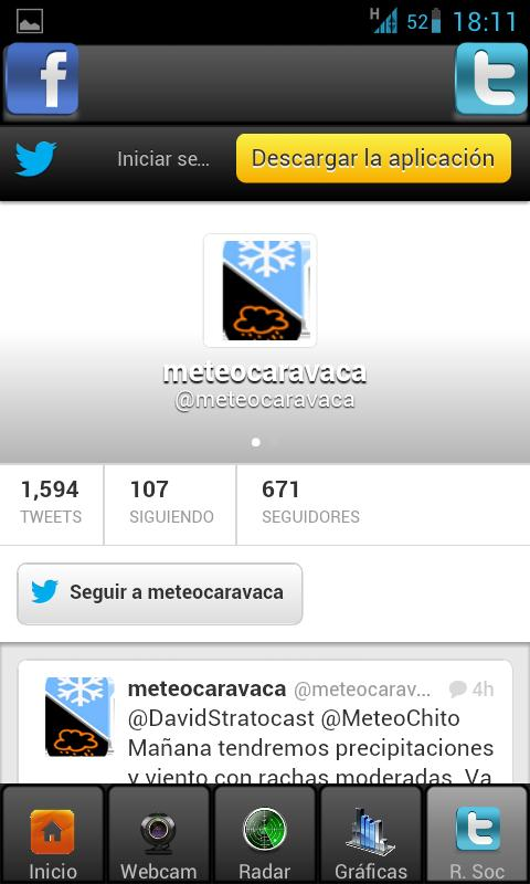 Meteocaravaca OLD - screenshot