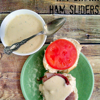 Hot Brown Ham Sliders