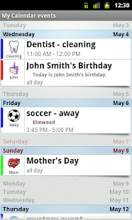 Blik Calendar Widget - screenshot thumbnail