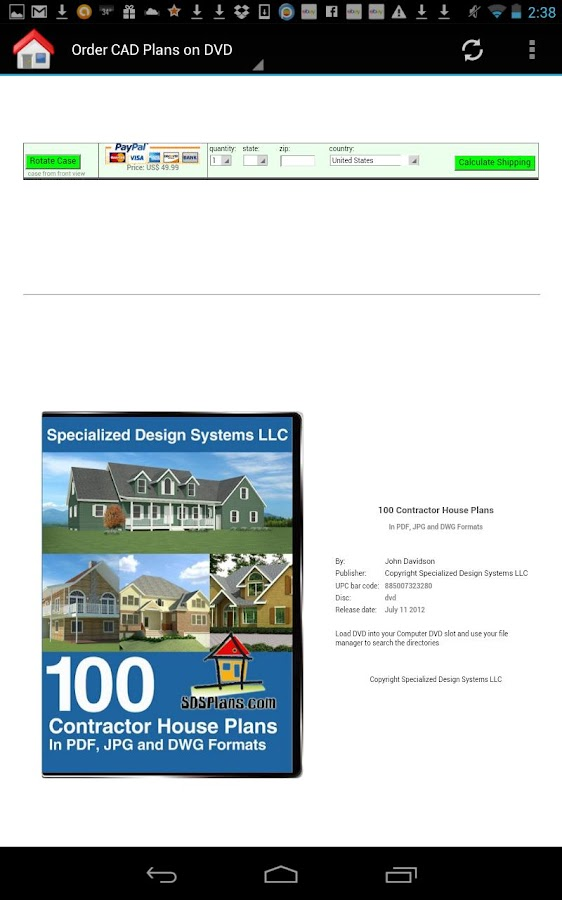 100 House Plans in PDF and CAD - screenshot