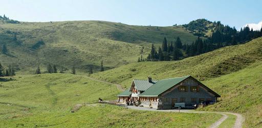 alpine-hut-Austria - An alpine hut in the countryside in Austria.