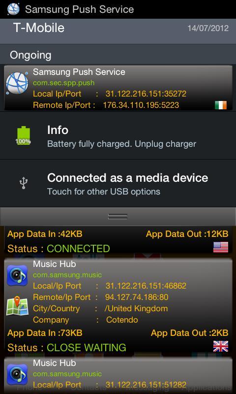 Connection Tracker- screenshot