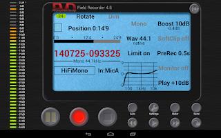 Screenshot of Field Recorder