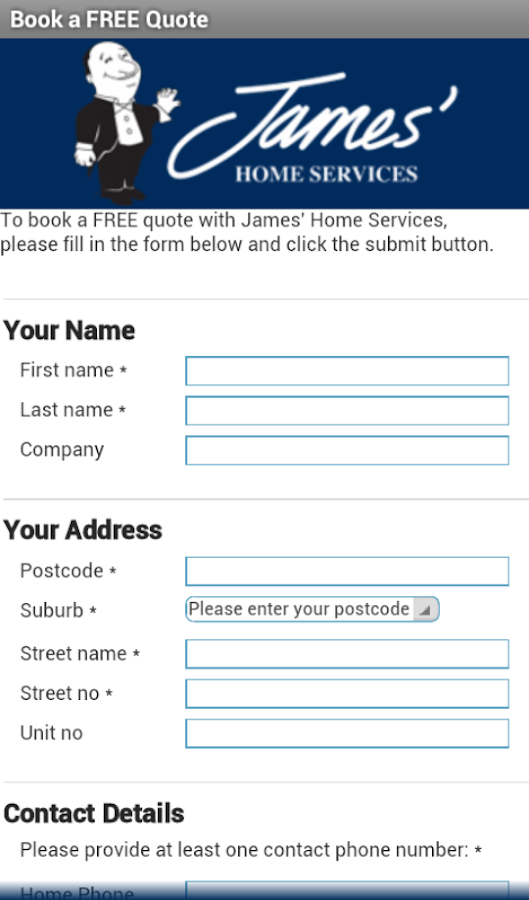 James' Home Services- screenshot