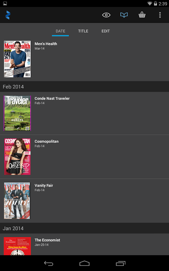 Zinio: 5000+ Digital Magazines- screenshot
