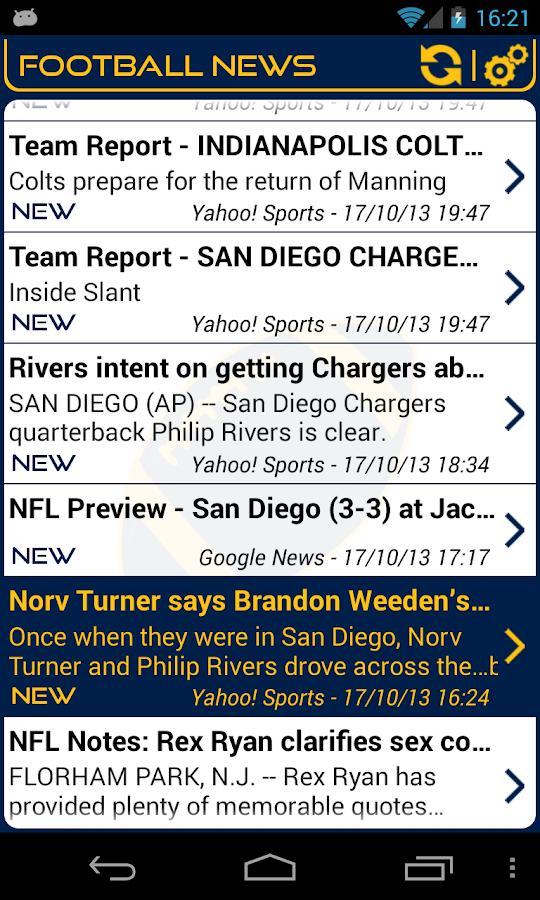 San Diego Football News- screenshot