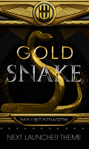gold snake Next Launcher Theme