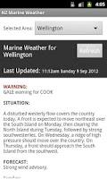 Screenshot of NZ Marine Weather
