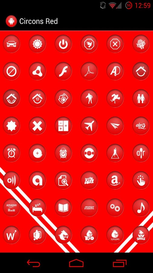 Circons Red Icon Pack - screenshot
