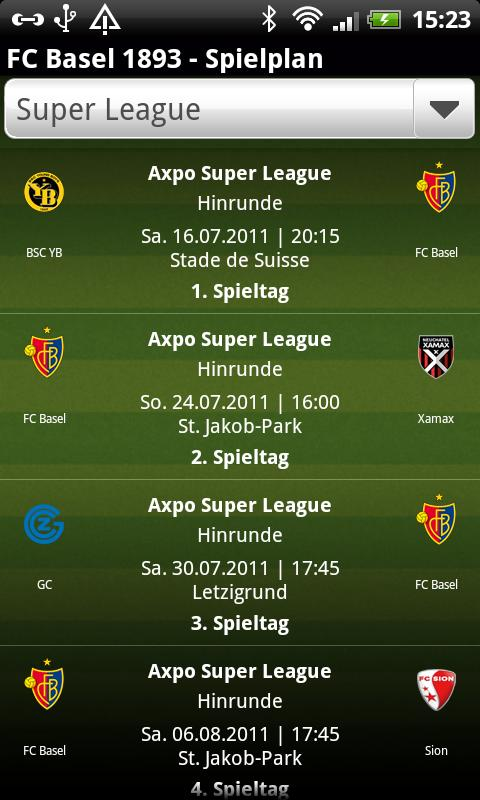 FC Basel 1893 - screenshot